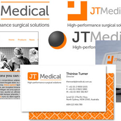 JT Medical logo mock-up