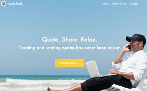 QuoteStack homepage