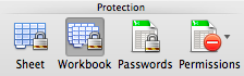 Protection options - Microsoft Excel